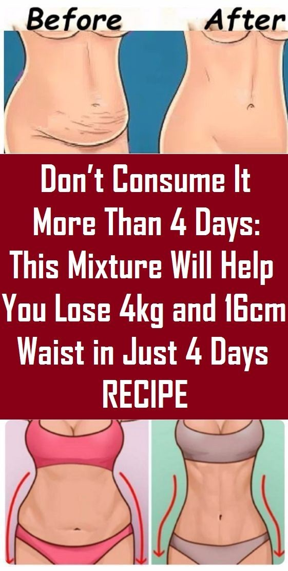how to lose weight in just 4 days