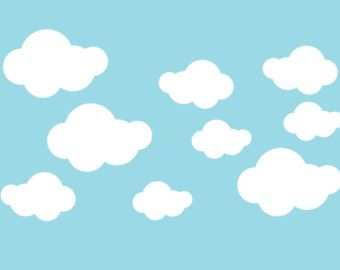 Fluffy Cloud Decals Cloud Decals Clouds Wall Decals - Nursery wall decals clouds