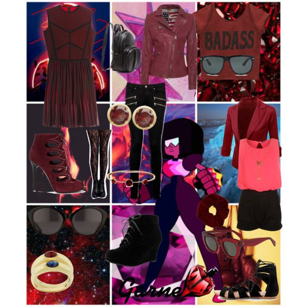 Steven Universe - Garnet by animedowntherunway on Polyvore featuring Elie Saab, Wet Seal, True Religion, Doublju, WearAll, Paige Denim, Boohoo, Alexander McQueen, Alexander Wang and Victoria Townsend