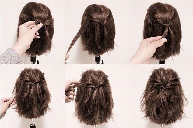 11++ Coiffure facile sur cheveux court inspiration
