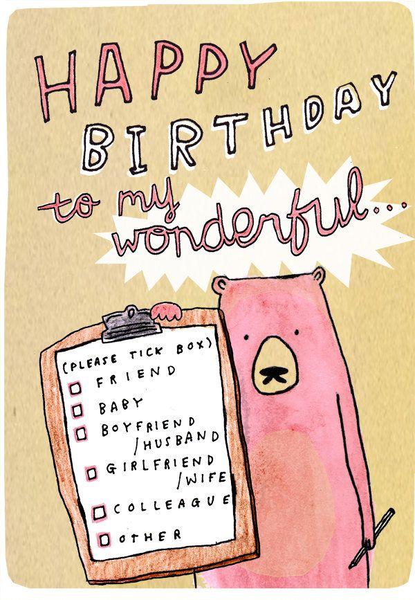 Happy Birthday To My WONDERFUL... friend, baby, boyfriend