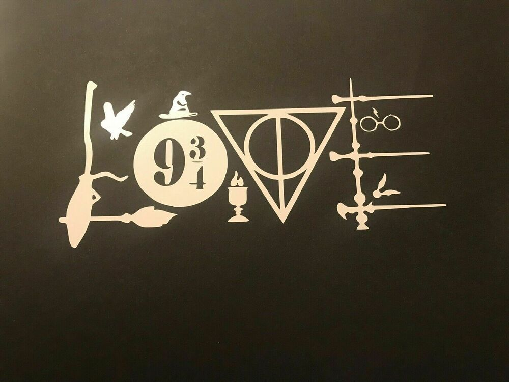 Love Harry Potter Inspired Decal Sticker For Hydroflask Msm Harry Potter Decal Vinyl Decals Harry Potter Car