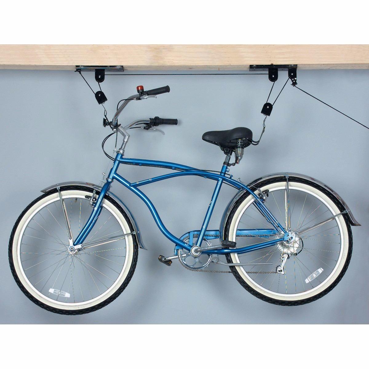 Rack Soporte Para Colgar Bicicleta De Ruta Y Mas Del Techo Bici - Colgar-bici-techo