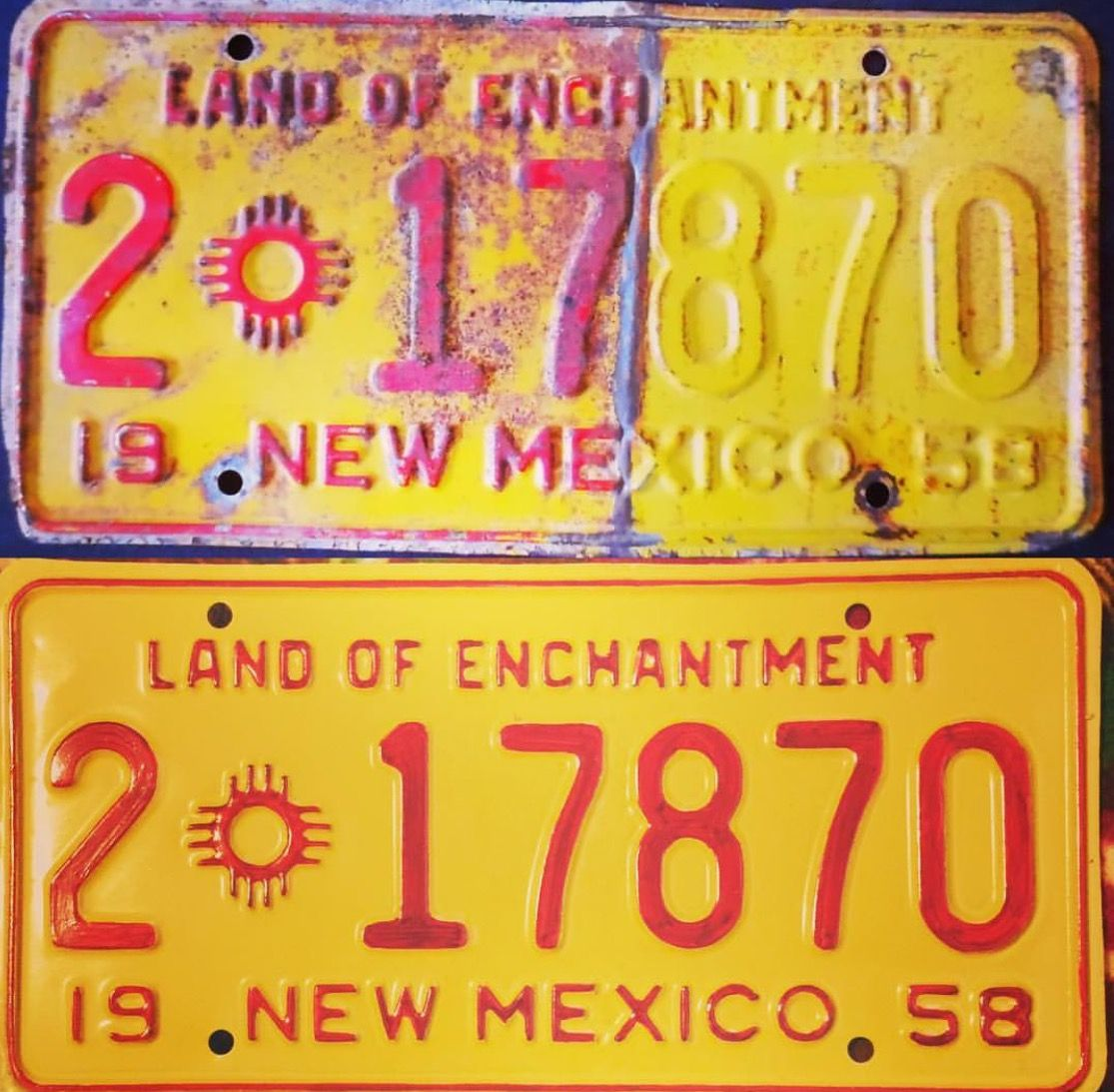 1958 License Plate Plate Collection and Restoration. 1958 New ...