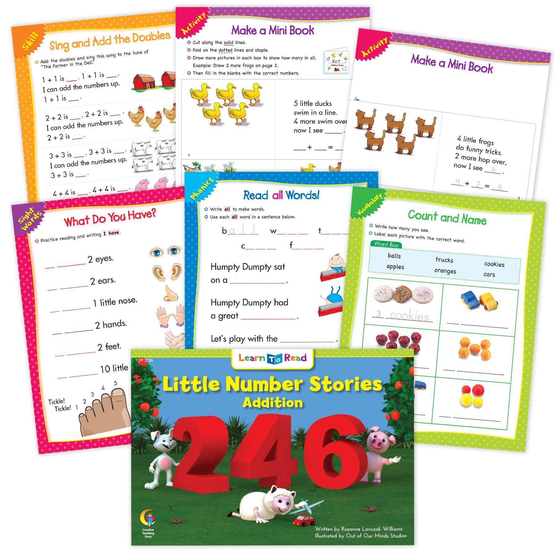 Little Number Stories Addition Ebook Amp Worksheets In