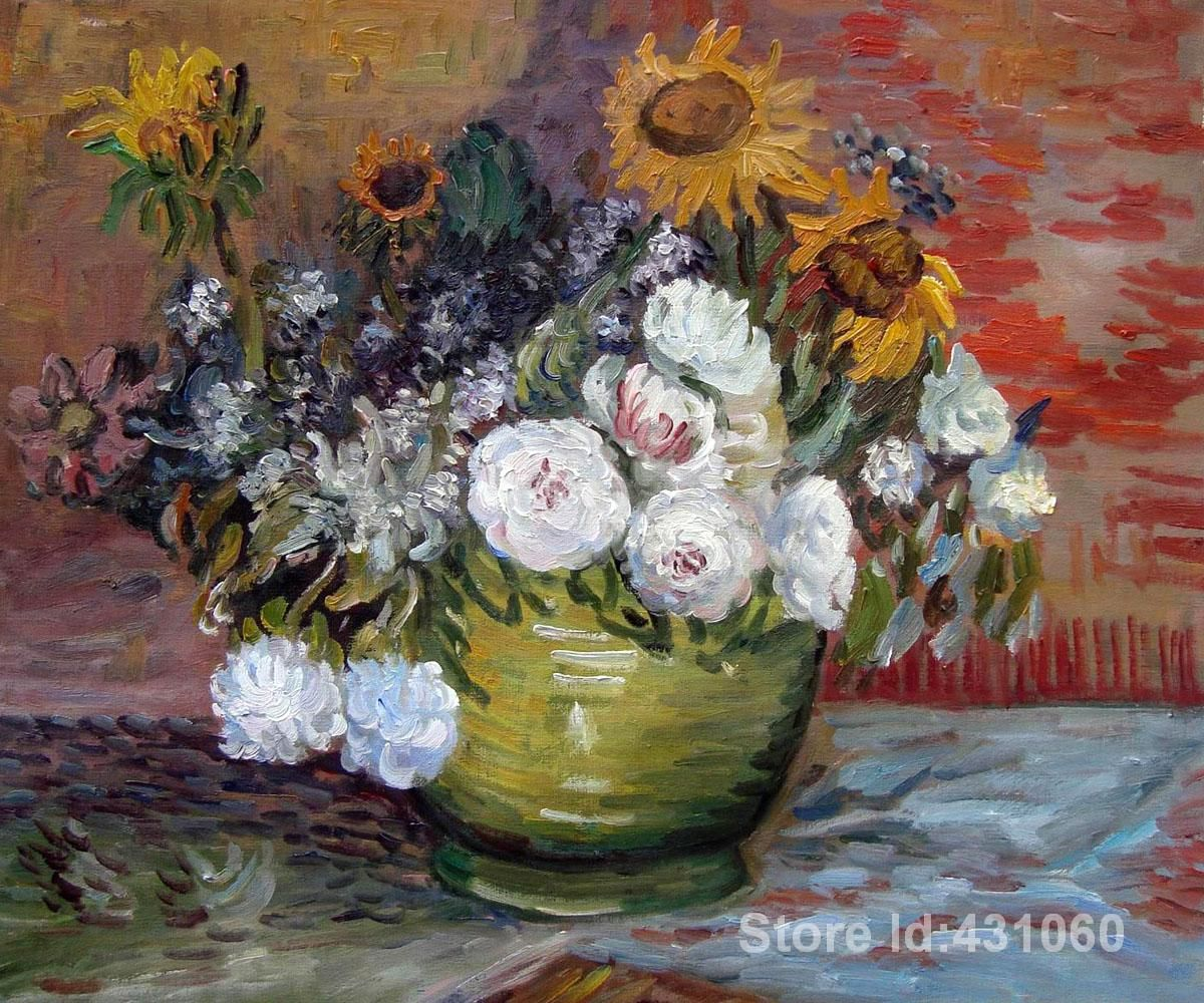 Free Shipping Buy Best Flower Oil Paintings Vincent Van Goghs