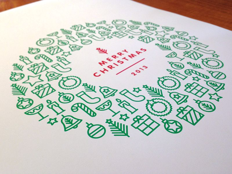 Addressed Christmas Cards.Merry Christmas Holiday Typography Doodles Christmas