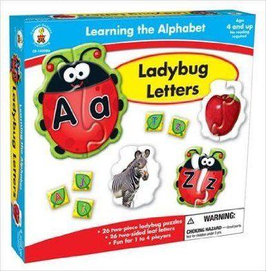 Amazon.com: Carson-Dellosa Publishing Learning The Alphabet: Ladybug Letters: Toys & Games