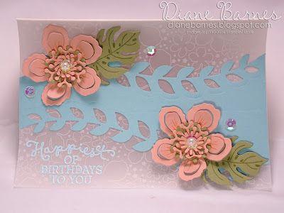 Modern Floral Birthday Card Using Stampin Up Botanical Blooms Stamp