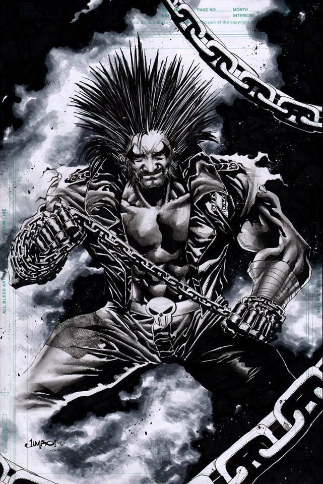Lobo Jimbo Salgado Comics artwork, Superhero art