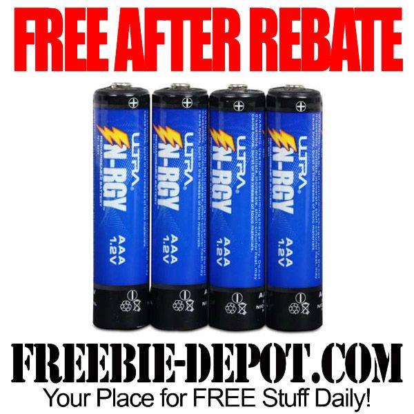 Free After Rebate 4 Ultra Ultimate N Rgy Aaa Rechargeable Batteries Free Batteries Free After Rebate Battery Free Rechargeable Batteries