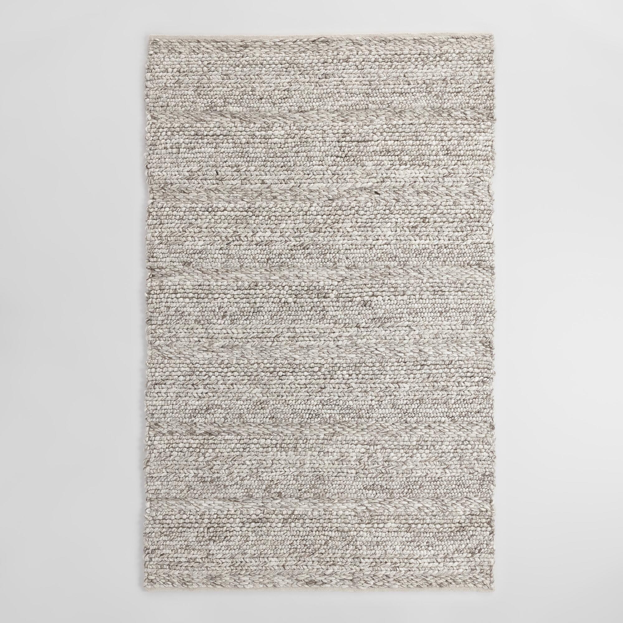 gray wool rug kitchen statement rugs that add texture
