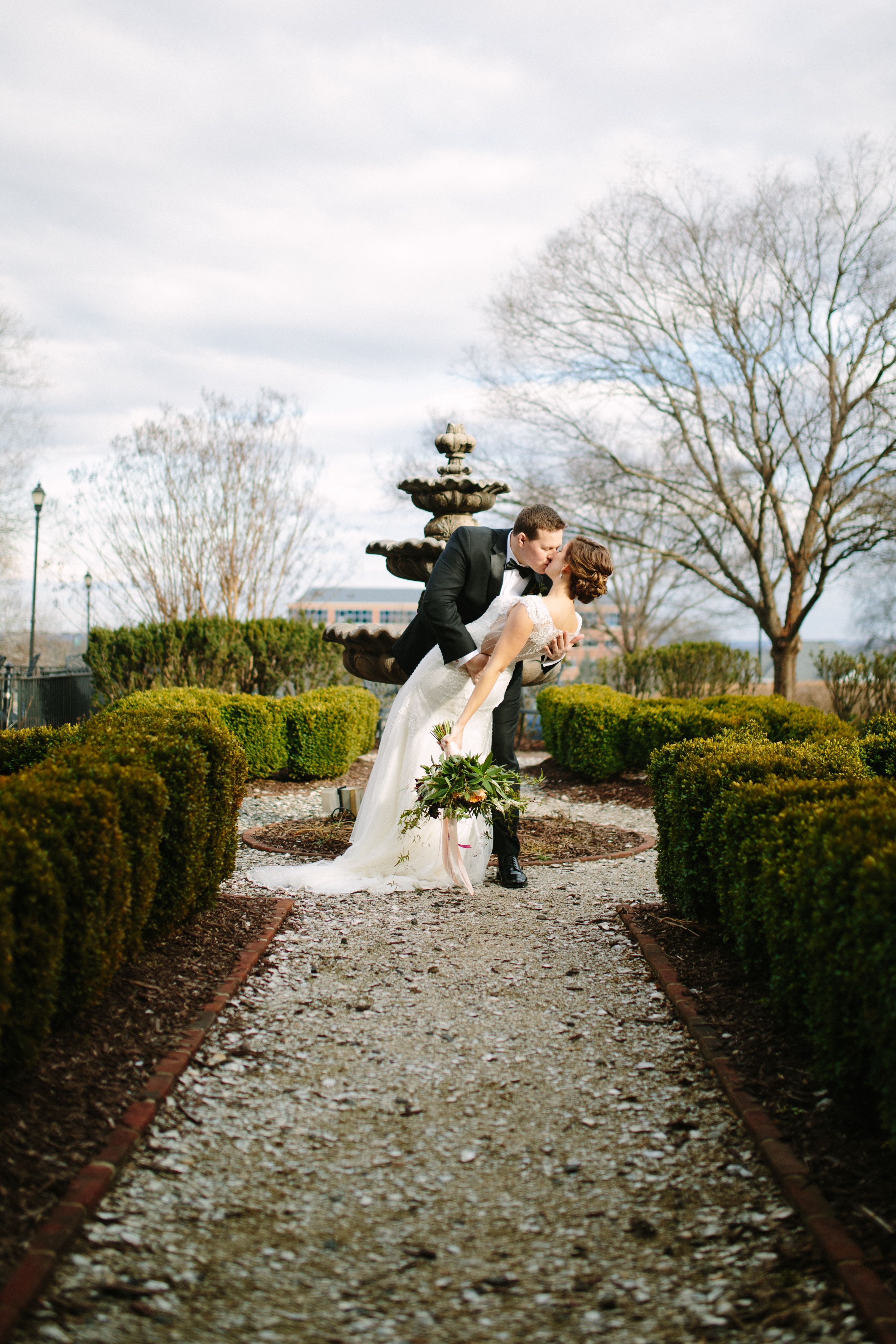 A Winter Wedding At Belmont Country Club Historic