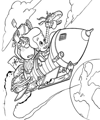 Jimmy Neutron Coloring Pages Coloring Pages Cute Coloring Pages