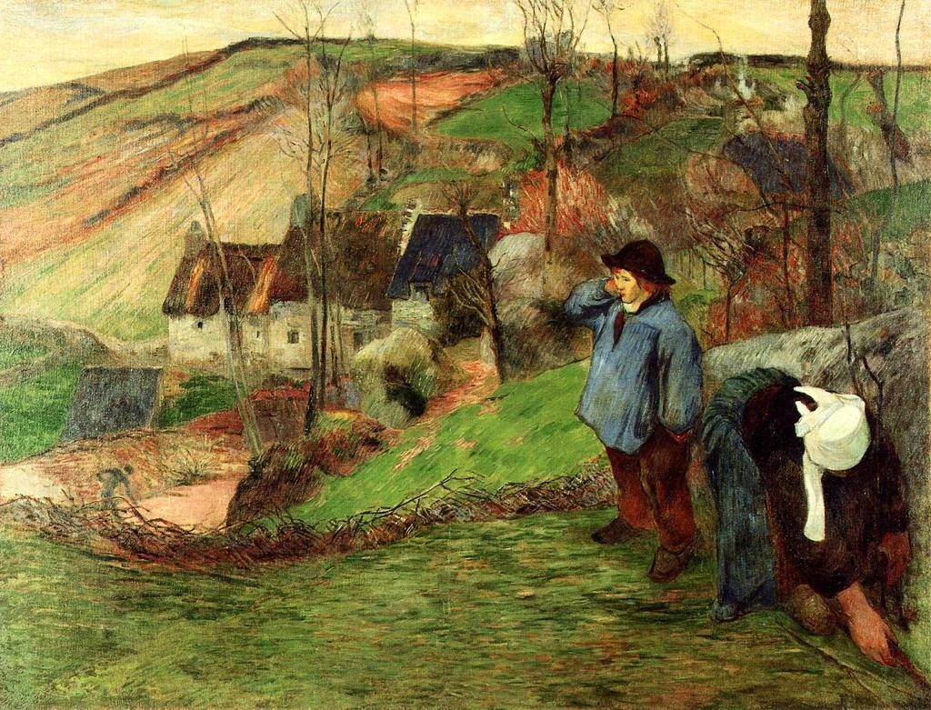 Gauguin   Bretagne paysage, Comment peindre, Peinture moderne
