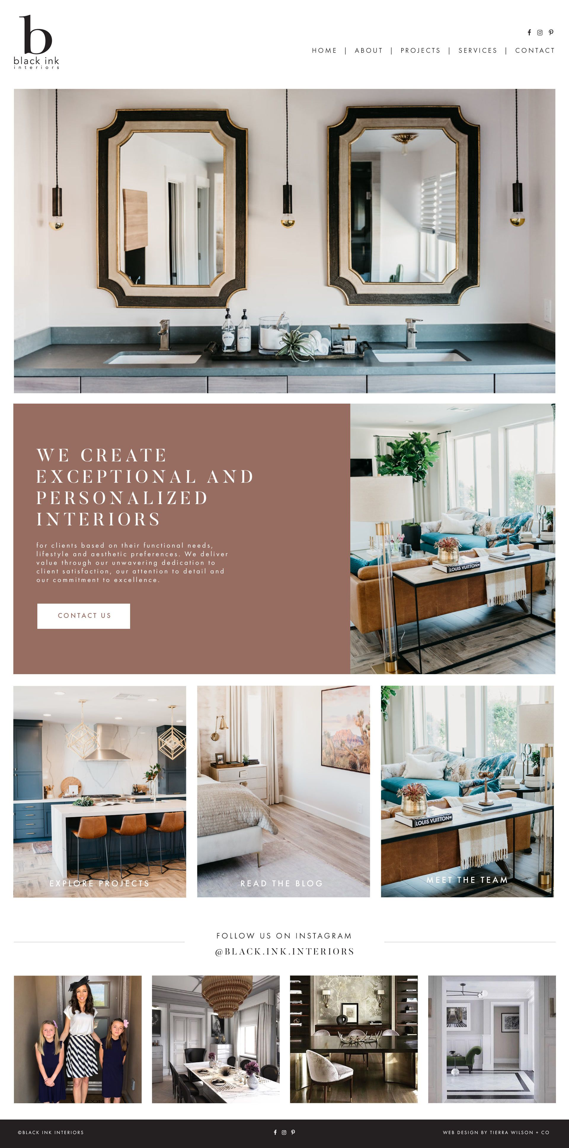 Interior Design Website By Studio Lavi Web Inspiration Portfolio Layout Feminine