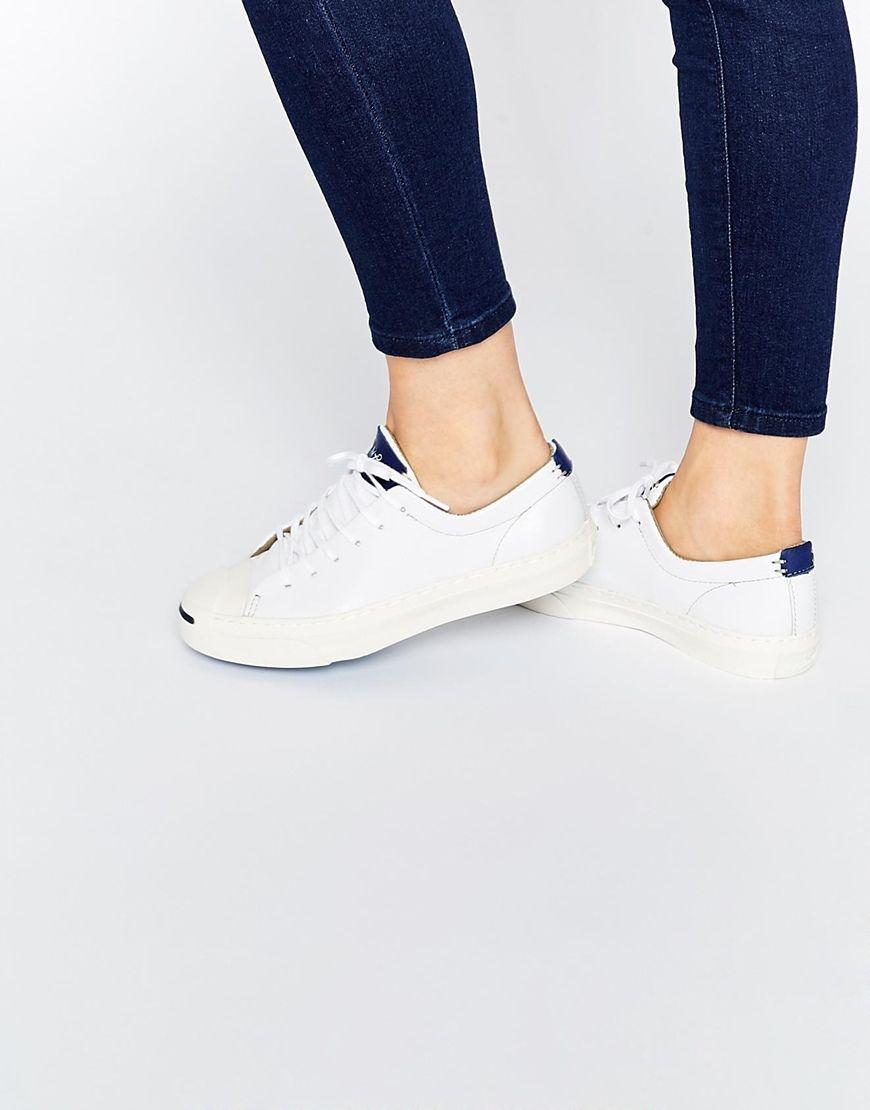 converse femme en cuir blanche