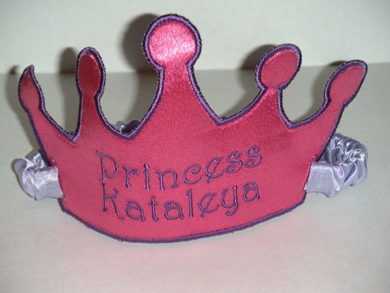 Personalized Princess Crown Choose your own by bushelandpeckbaby, $17.00