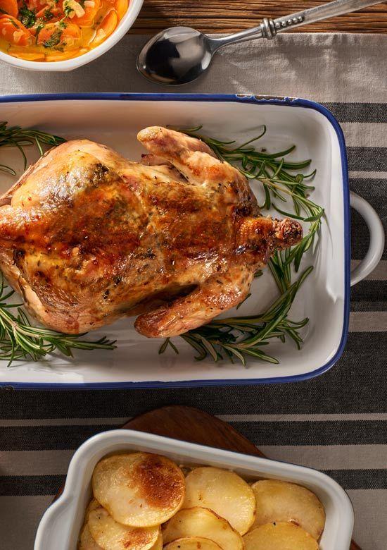 Kurczak Cytrynowo Rozmarynowy Z Zapiekanka Dauphinois I Marchewka W Smietanie Przepis Recipe Food Chicken Yummy