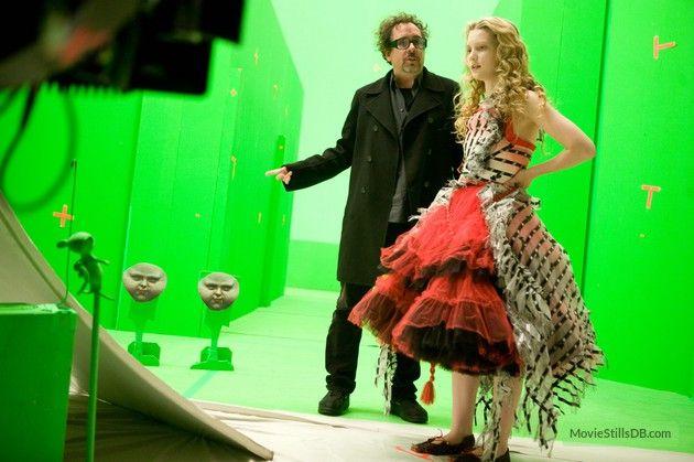 Alice In Wonderland Behind The Scenes Photo Of Tim Burton Mia