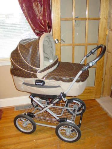 Tandem Stroller Lightweight Louis Vuitton Baby Stroller Custom Design Carseat And