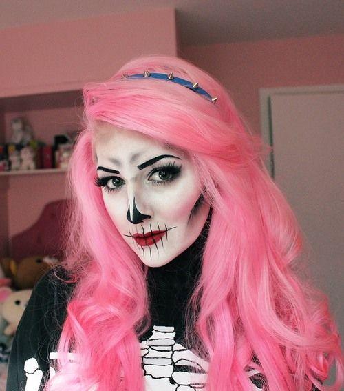 skeleton+makeup+ideas | Cute skeleton face makeup | Halloween ...