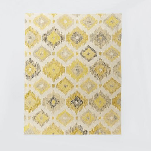 For The Living Room Blur Ikat Rug