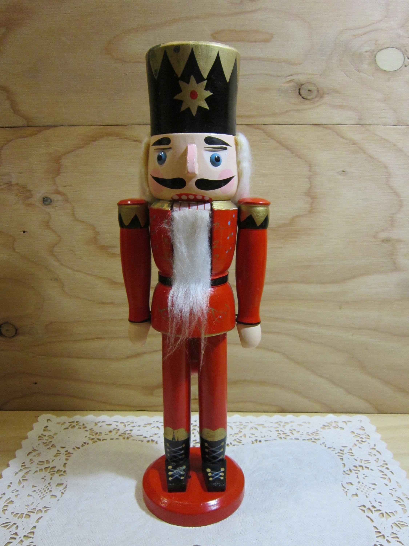 Vintage Wooden Soldier Nutcracker Wooden Toy Soldier Holiday