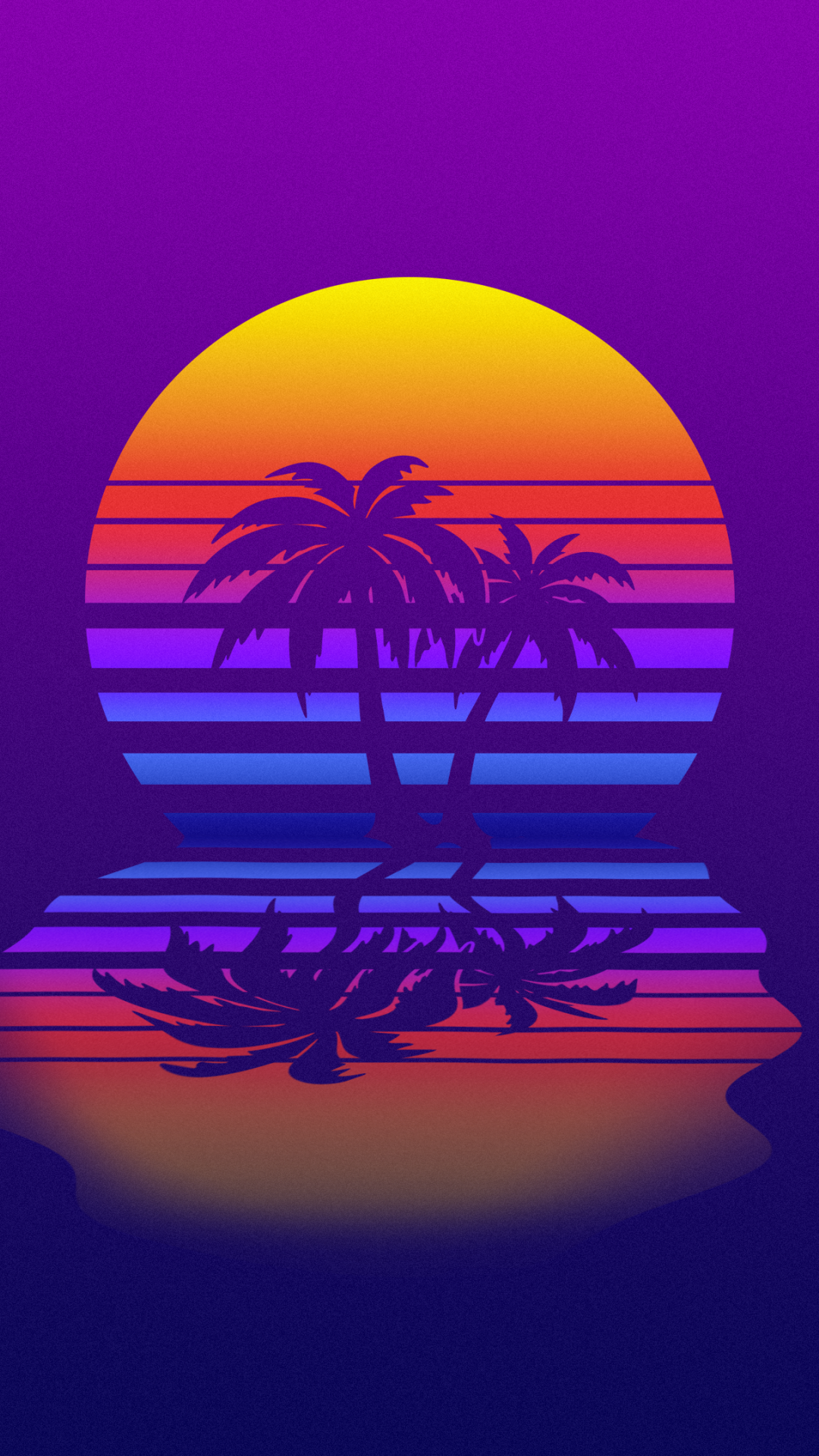 Synthwave Minimal Moon And Palm Tree Wallpaper Vaporwave Wallpaper Palm Trees Wallpaper Retro Wallpaper Iphone