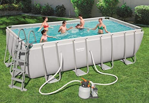 Bestway Power Steel Rectangular Frame Pool Set, viereckig