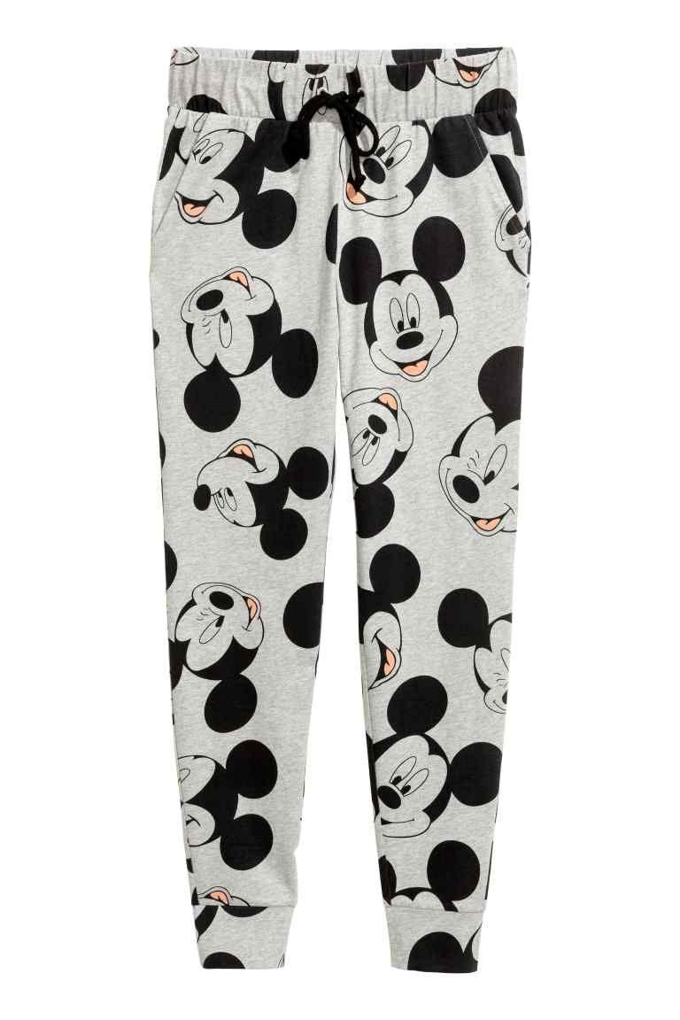 Pyjama van fleece en tricot GrijsMickey Mouse DAMES