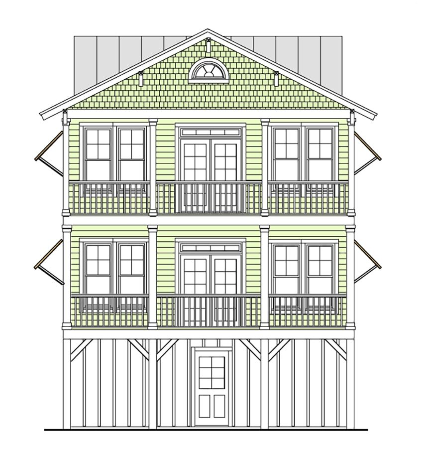 Elevated house plans are primarily designed for homes located in ...