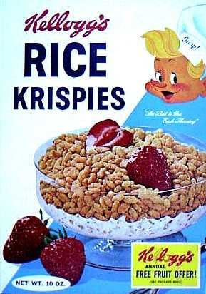Rice krispies, Rice krispies cereal and Cereal boxes on Pinterest