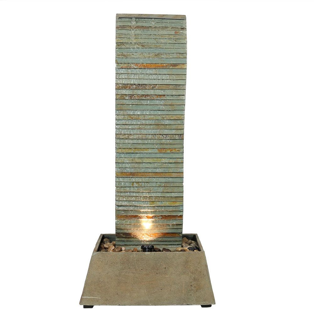 NEW Slate Waterfall Outdoor Water Fountain Feature for Patio ...