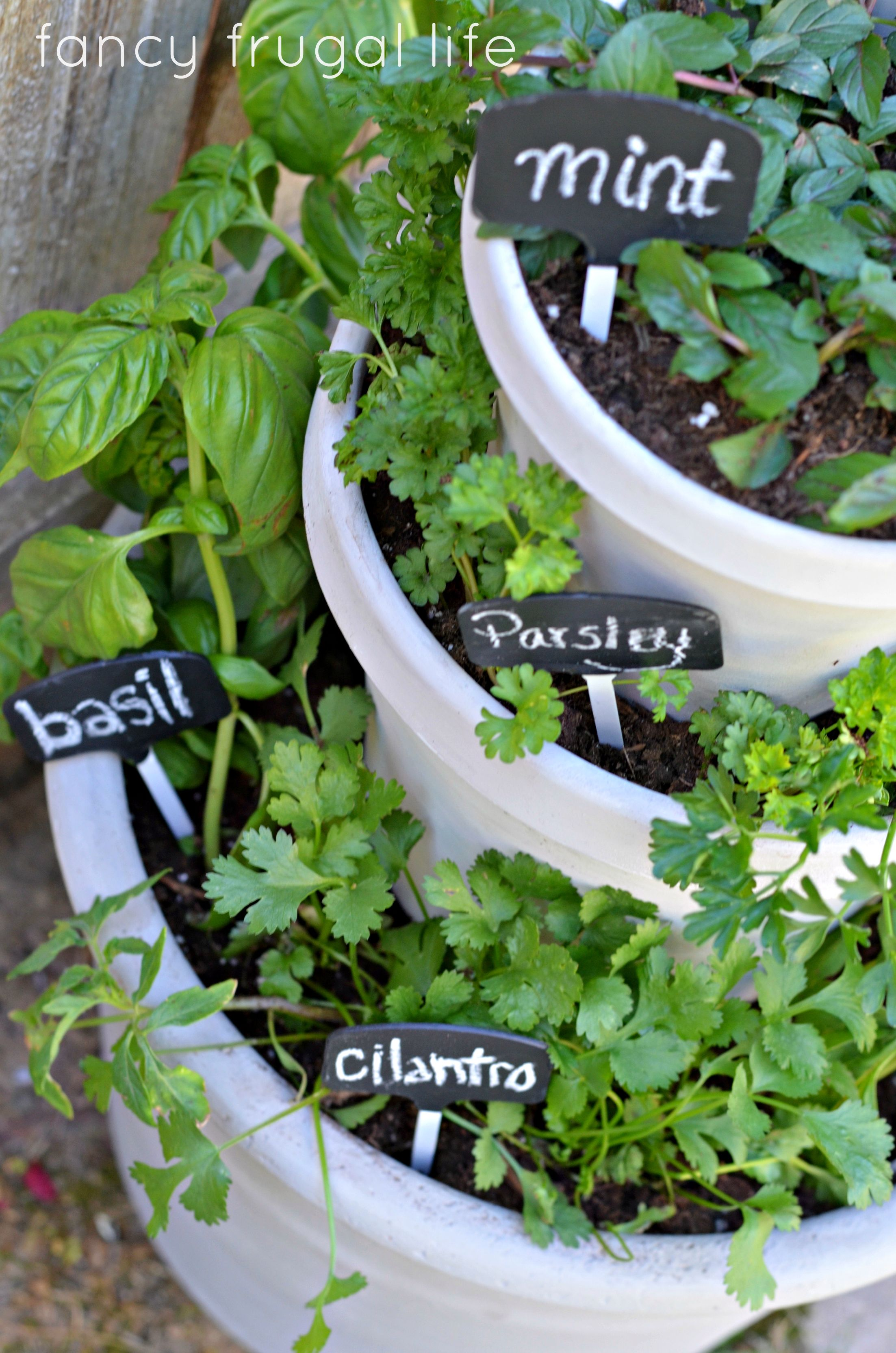 Stacked Pots Herb Garden Diy