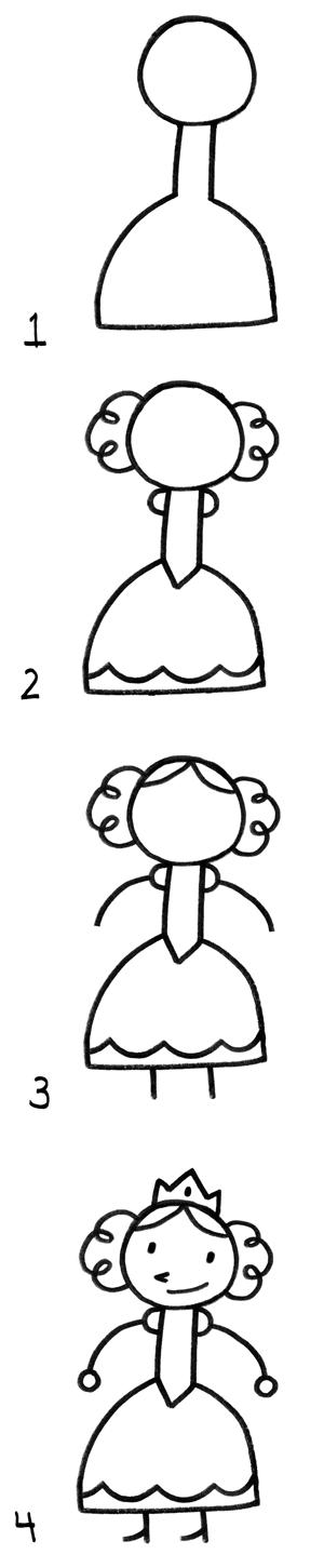 Comment dessiner un chevalier apprendre dessiner pinterest - Comment dessiner princesse ...