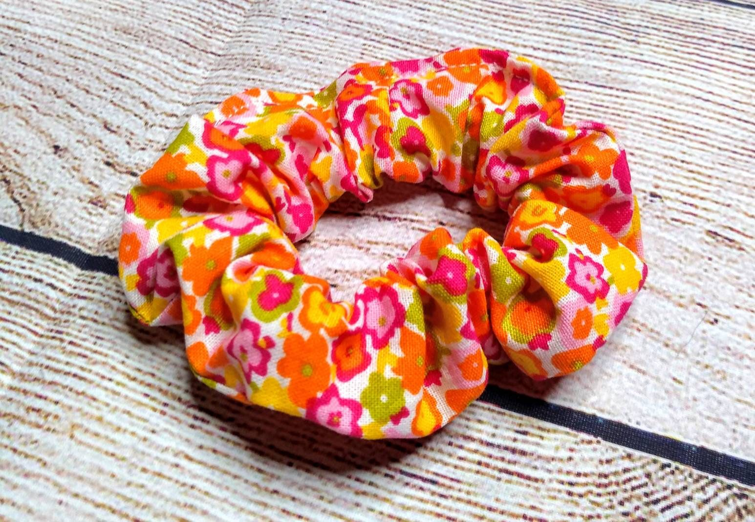Hair scrunchy, floral hair scrunchy, messy bun holder, gift for girl, stocking stuffers, hair accessories, scrunchies, Christmas gift #hairscrunchie