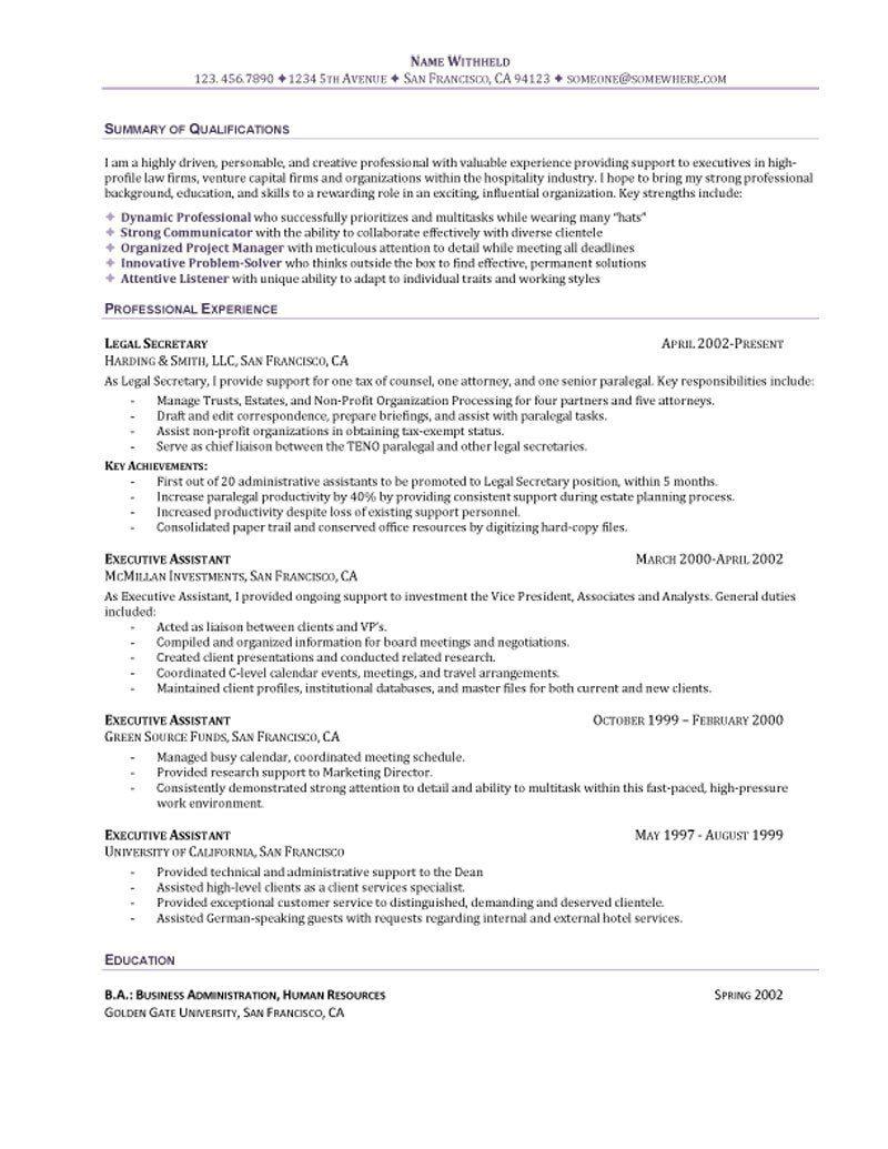 Executive secretary resume sample pharmaceutical engineer