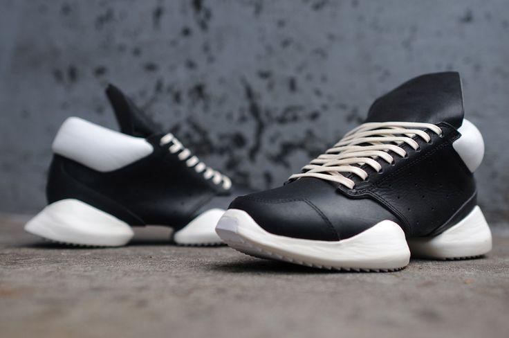 Pour Coureur De Niveau En Cuir Adidas Printemps Baskets Basses / Été Rick Owens xCkZlcLUe9