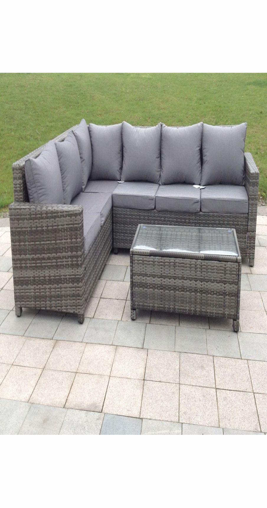 Unique Grey Rattan Garden sofa in 9  Furniture sofa set