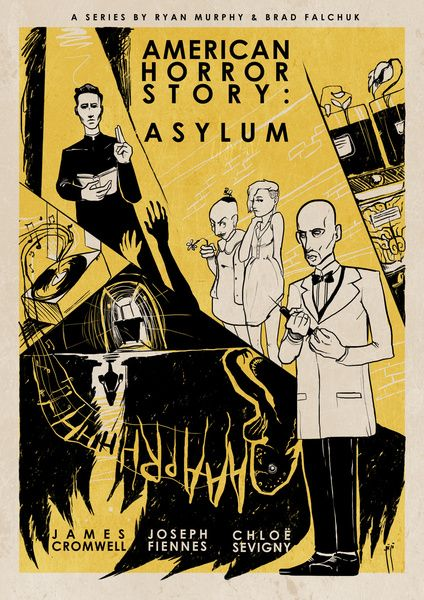 American Horror Story Asylum Poster By Roberto Sanchez American Horror Story Asylum American Horror American Horror Story