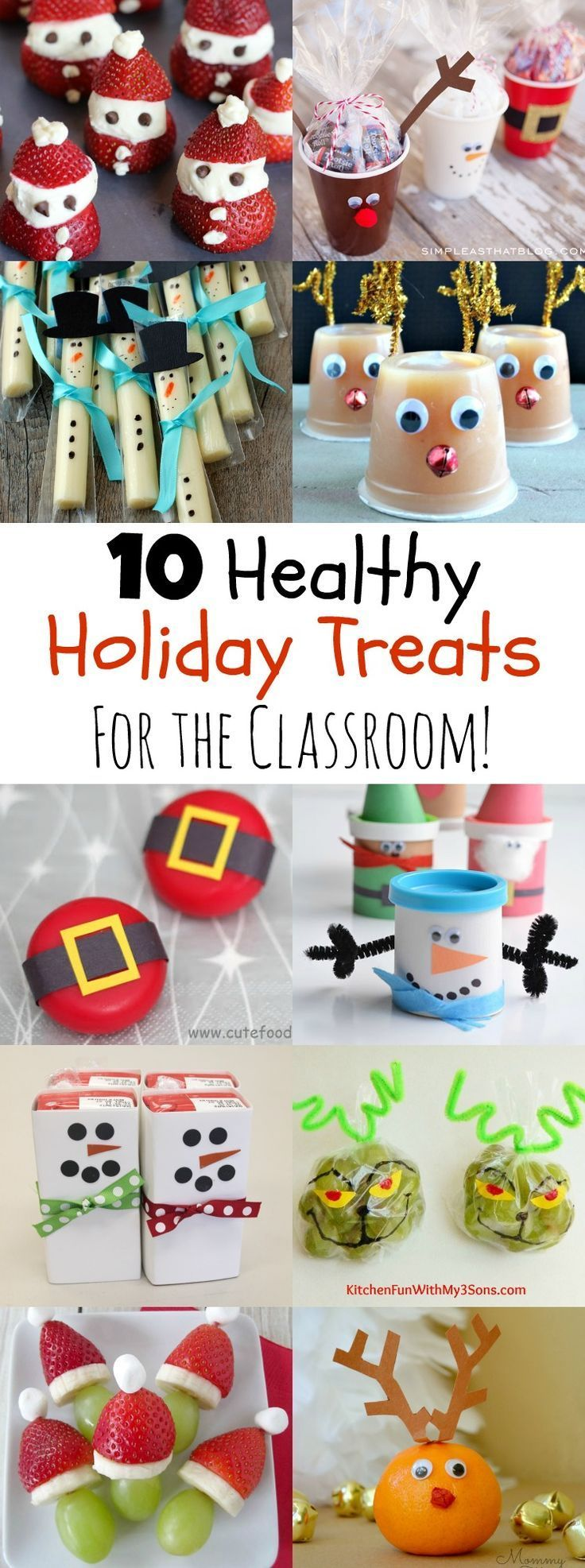 Attractive Christmas Snack Ideas For School Parties Part - 3: 10 Healthy Holiday Treats For The Classroom - MOMables