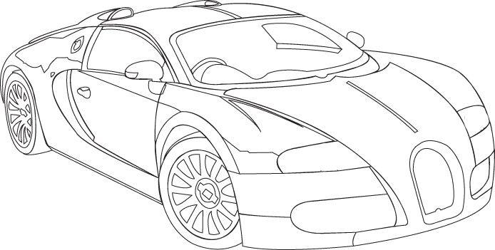 Bugatti Sang Bleu Coupe Coloring Page Bugatti Car Coloring Pages