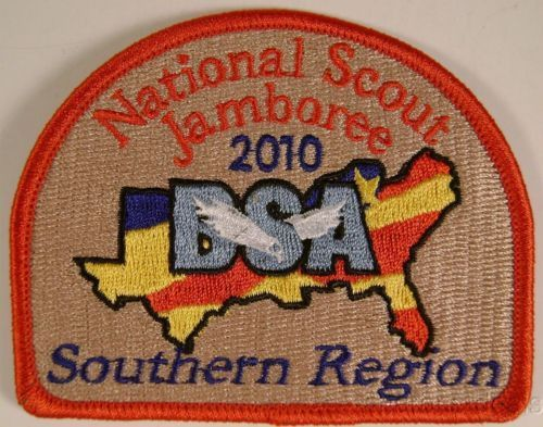 Lot 3 BSA 2010 Jamboree Embroidered Southern Region Patch