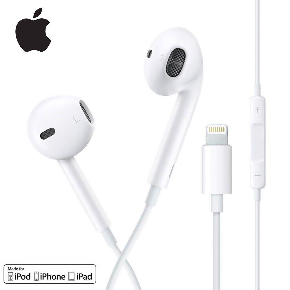 Earpods Headphone Genuine Apple With Lightning Connector For Iphone Ipad Ios Volume Control And Calls Handsfree Apple Headphone Headphone Handsfree