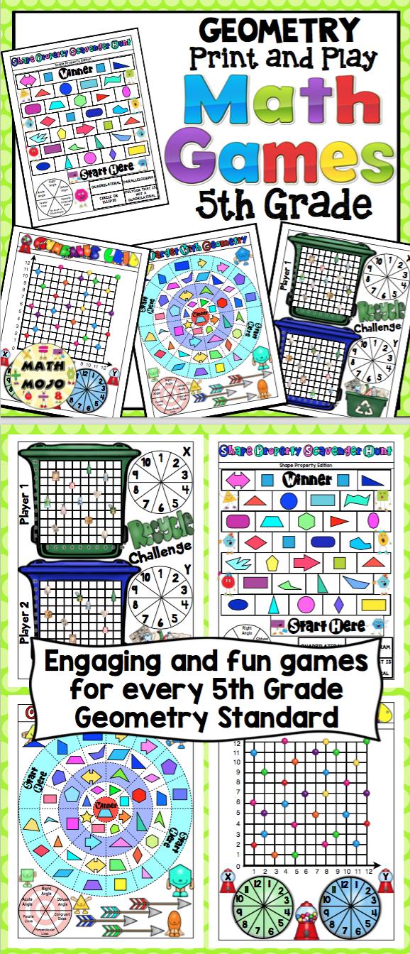 5th Grade Math Games: Geometry | 5th Grade Math | 5th grade math ...
