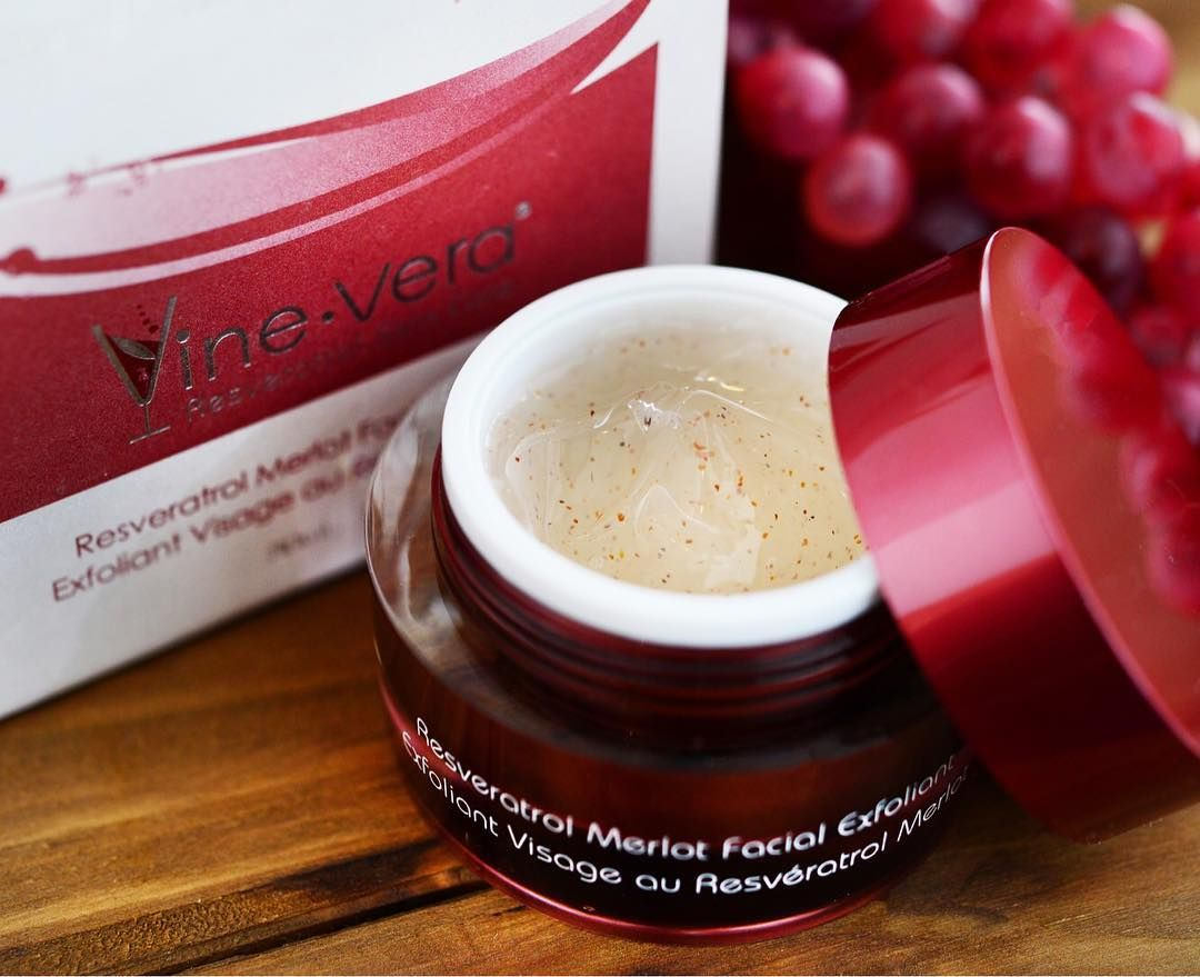Don T Let Lackluster Skin Get You Down Bring Back Soft Vibrant Skin With The Merlot Facial Exfoliant Vinever Vine Vera Resveratrol Facial Exfoliator Merlot
