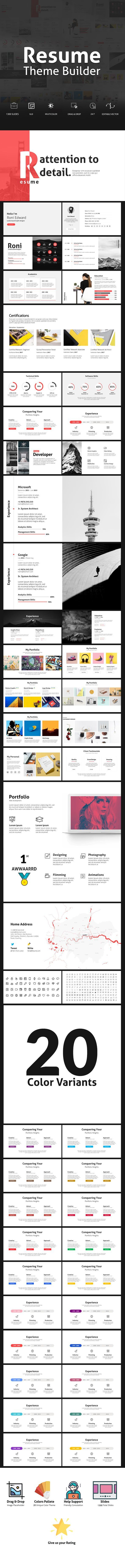 Resume Theme Builder  Minimal Powerpoint Template  Presentation