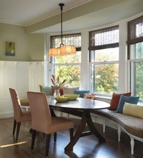 Dining Room With Banquette Seating Chapman Place Diy Bay Window Seat  Kitchen Reno  Pinterest