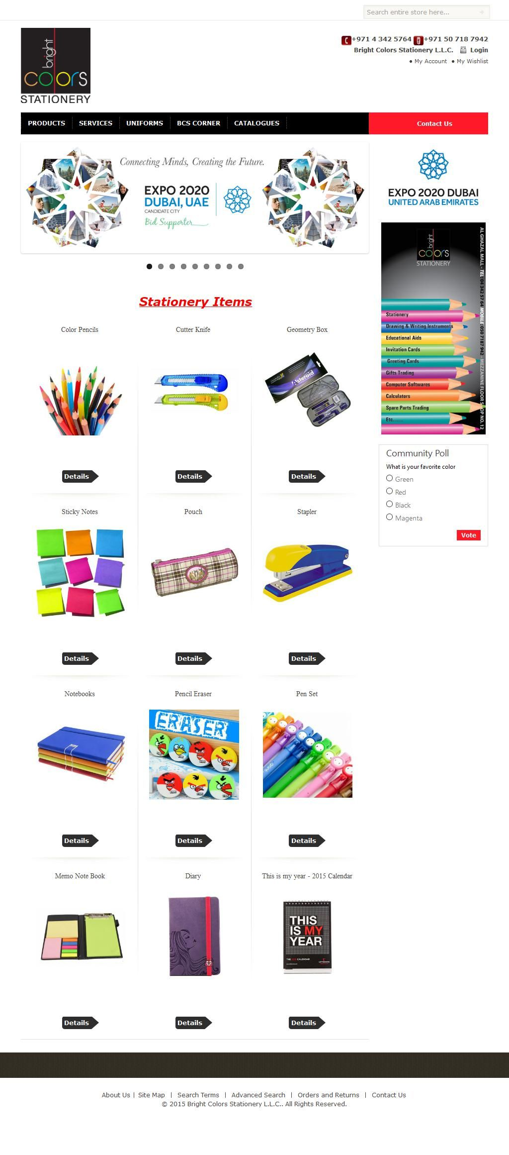 bright colors stationery llc al ghazal mall 169 al wasl road m